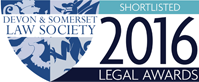 Devon and Somerset Law Society Legal Awards Shortlisted 2016